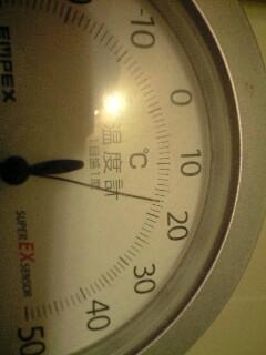 し、室温が・・・